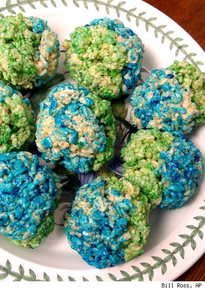 Rice cereal treats really are perfect for any occasion…including Earth Day.